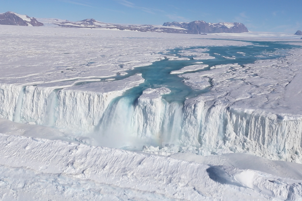 Meltwater on Antarctica. Credit: Won Sang Lee/Korea Polar Research Institute