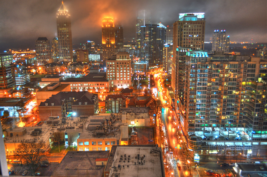 Downtown Atlanta. Credit: Mike Downey/CC-BY-2.0