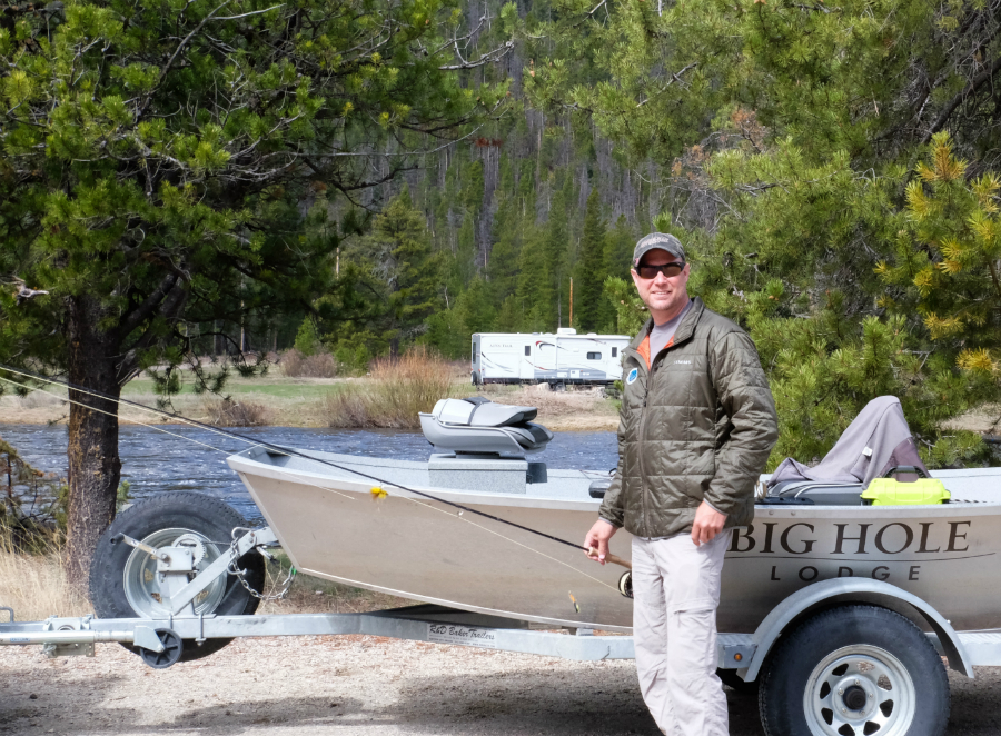 Mark Thompson, fishing on Montana's Big Hole River. Credit: Meera Subrmanian