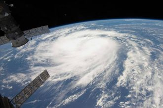 Hurricane Katia in 2011, viewed from the International Space Station. Credit: NASA