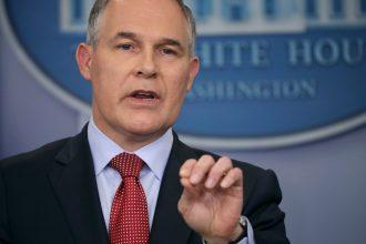 EPA Administrator Scott Pruitt. Credit: Chip Somodevilla/Getty Images