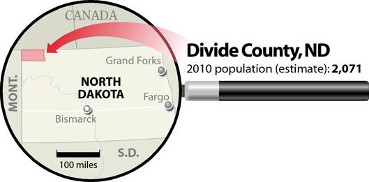 Locator Map: Divide County, North Dakota