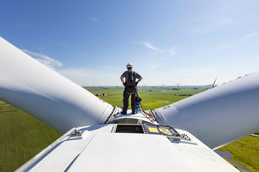 Wind Catcher was designed to be a 2,000 megawatt wind farm in the Oklahoma Panhandle. With AEP pulling out it, its future is now unclear. Credit: Invenergy image of another of the company's wind farms.
