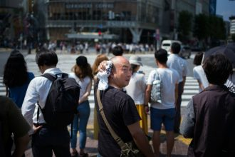 Extreme heat killed more than 80 people in Japan in July, just a few weeks after flooding from downpours was blamed for more than 200 deaths there. Martin Bureau/Getty Images