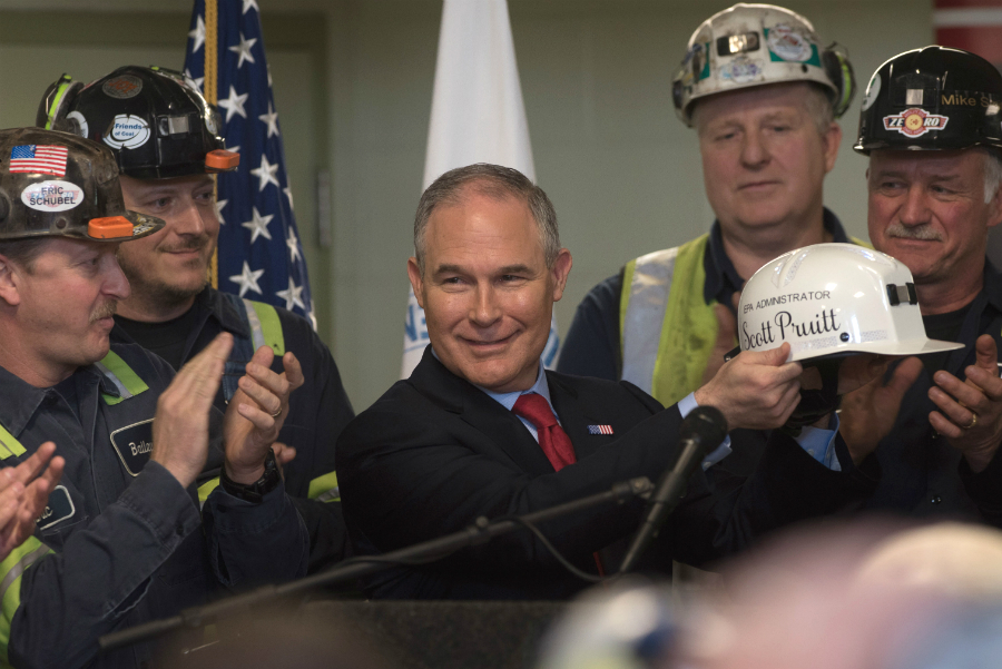 Scott Pruitt, EPA administrator under President Trump. Credit: Justin Merriman/Getty Images