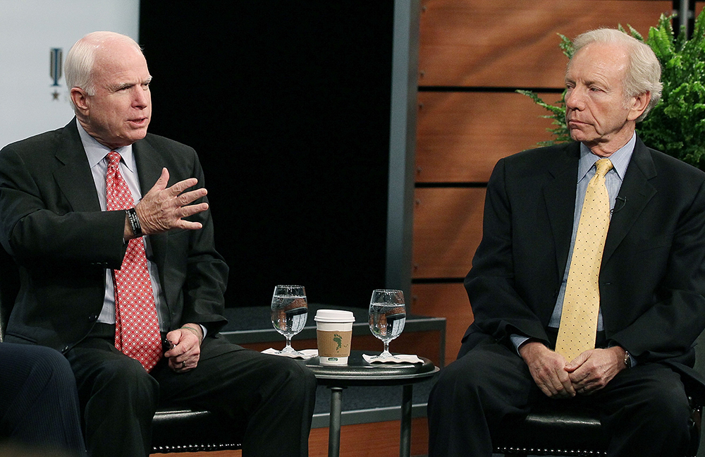 John McCain and Joe Lieberman. Credit: Mark Wilson/Getty Images