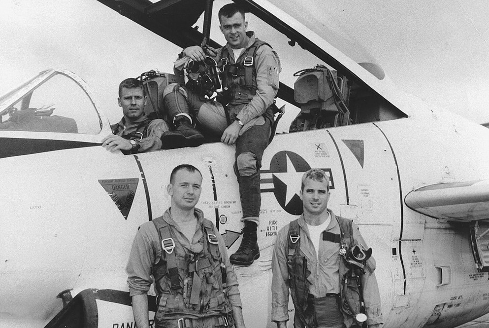 McCain (lower right) with his squadron. Credit: Library of Congress