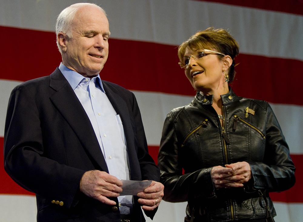 John McCain and Sarah Palin. Credit: Darren Hauck/Getty Images
