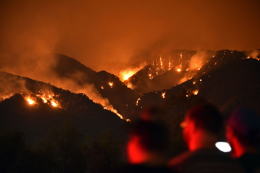 California issued health warnings in early August as smoke from record wildfires darkened the skies and drifted into other states. Credit: Robyn Beck/AFP/Getty Images