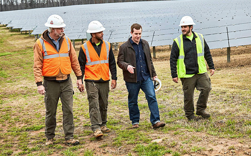 The Democratic candidate, Dan McCready, is a former Marine who launched a successful solar business in the North Carolina, the nation's second biggest solar state behind California. Credit: McCready Campaign.The Democratic candidate, Dan McCready, is a fo