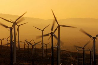 Wind turbines at California's San Gorgonio Pass wind farm. Credit: Lee Celano/AFP/Getty Images