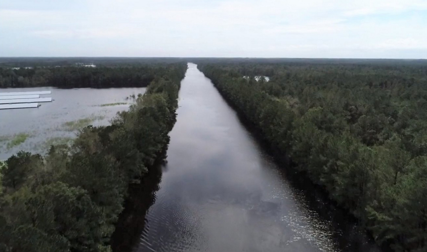 Hundreds of roads across North Carolina were inaccessible due to Florence's flooding, and Interstate 95 and 40 were shut down. A photo shared by the North Carolina Department of Transportation of I-40 shows why. Source: NCDOT