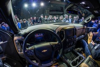 Inside the Chevy Silverado. Credit: Jewel Samad/AFP/Getty Images