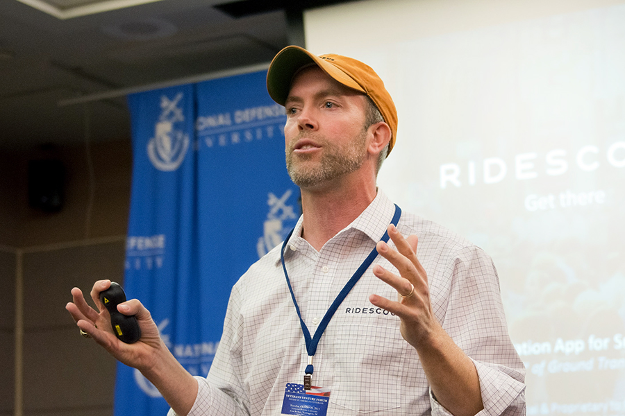 Joseph Kopser, an Army veteran and tech entrepreneur, is running for Congress in the seat held for the past three decades by Rep. Lamar Smith. Smith used his position to spread denial of climate science. Credit: National Defense University/CC-BY-NC-2.0
