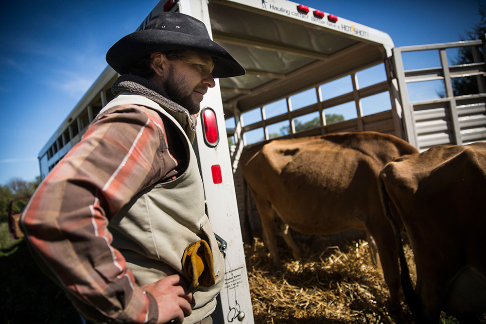 Not all farmers approve of the what the fossil fuel industry is doing. Nebraska cattle rancher Ben Gotschall opposes the Keystone XL pipeline, which he believes could damage the state's environment. Credit: Andrew Burton/Getty Images