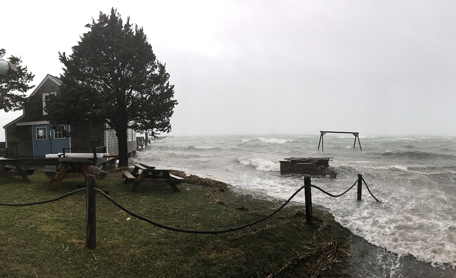 A nor'easter floods coastal areas of Cape Cod. Credit: Meera Subramanian