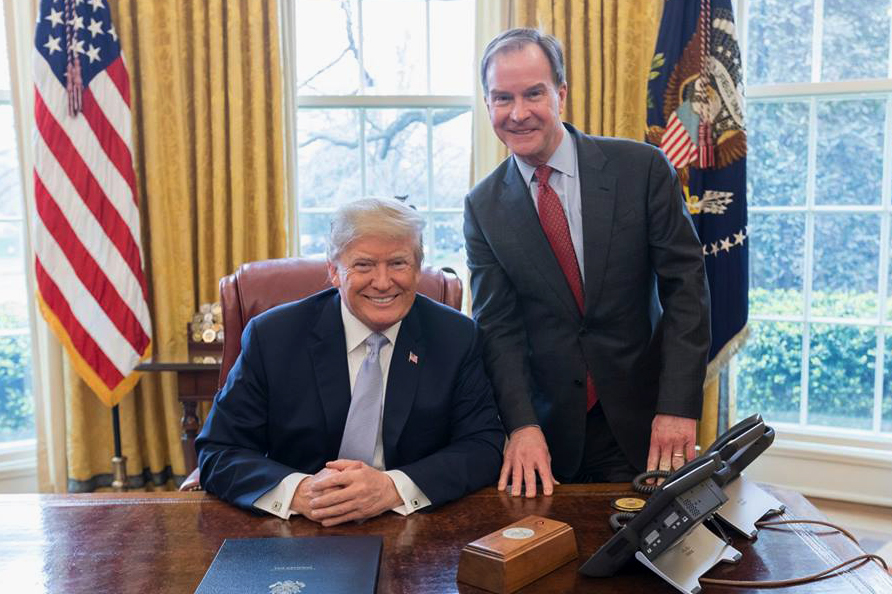 Bill Schuette with President Trump in 2018. Credit: White House