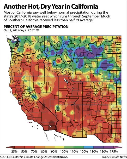Map: Another Hot, Dry Year in California