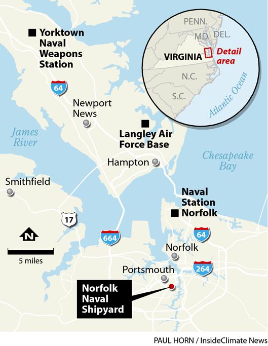 Map: Norfolk Naval Shipyard