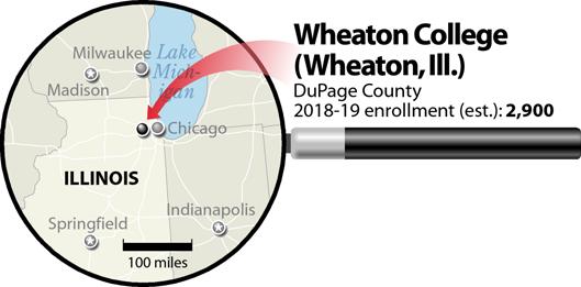 Wheaton College locator map