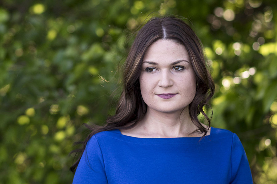Democratic candidate Abby Finkenauer, a member of the Iowa House of Representatives, fought an effort by the fossil fuel industry to gain control of a renewable energy research center at Iowa State University. Credit: Lauren Justice for Washington Post vi