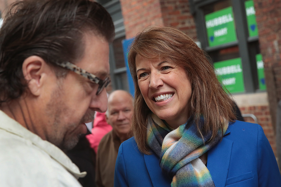 Democratic candidate Cindy Axne, who worked for former Iowa Gov. Chet Culver in overseeing implementation of the state's energy and environment plan, is challenging Rep. David Young. Credit: Scott Olson/Getty Images