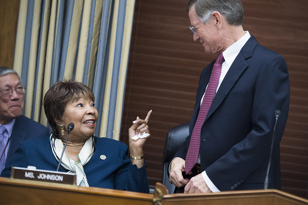 Democratic Rep. Eddie Bernice Johnson could take over leadership of the House Science Committee from fellow Texan, Republican Rep. Lamar Smith. Credit: Tom Williams/CQ Roll Call via Getty Images