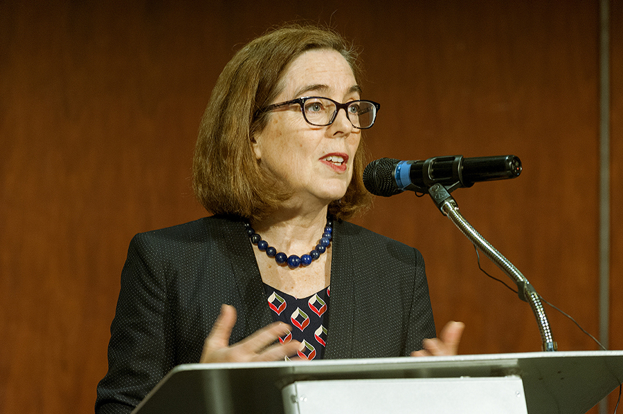 Oregon Gov. Kate Brown has flagged a carbon cap-and-invest program as a priority. Credit: Oregon Department of Transportation
