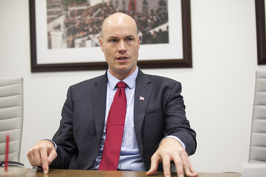 Climate change is almost being used as a small wedge issue for Democratic candidate J.D. Scholten, political scientist David Andersen said. Credit: Thomas McKinless/CQ Roll Call via Getty Images