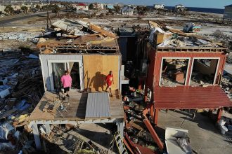 Mexico Beach, Florida, after Hurricane Michael. Credit: Joe Raedle/Getty Images