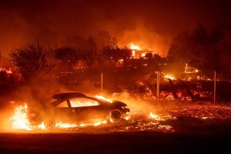 California's deadliest wildfire on record swept through the down of Paradise in November. Credit: Josh Edelson/AFP/Getty Images