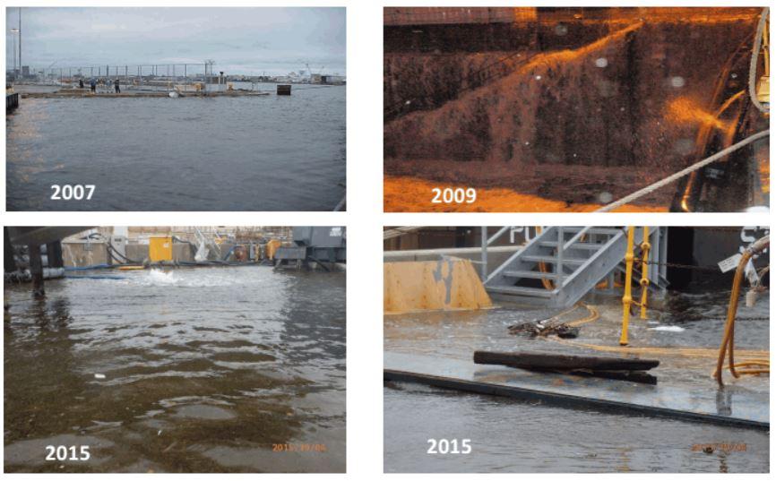 Flooding at Norfolk Naval Shipyard. Credit: Naval Facilities Engineering Command presentation