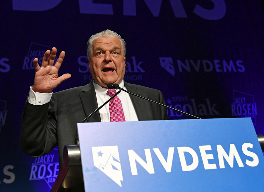 Democrat Steve Sisolak made support for solar power part of his campaign for governor in Nevada. Ethan Miller/Getty Images