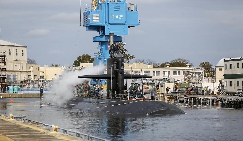 The USS Helena at Norfolk Naval Shipyard. Credit: U.S. Navy