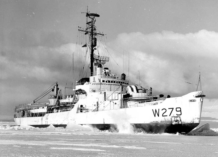 The Eastwind, a Wind-class icebreaker, captured a Nazi supply ship and weather station in Greenland in 1944, the year it was commissioned. Credit: U.S. Coast Guard