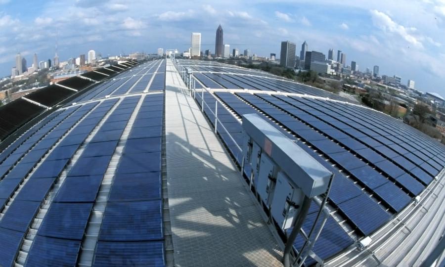 Solar panels at Georgia Tech University. Credit: Georgia Tech Research Center/CC-BY-3.0