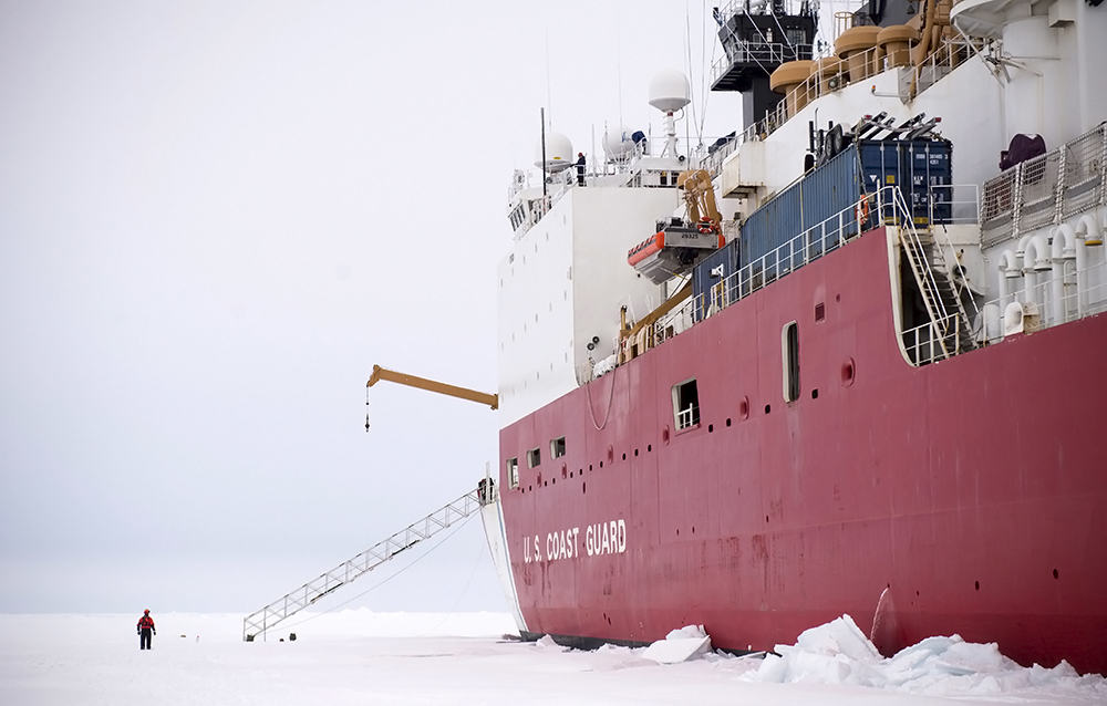 The Healy has a range of responsibilities in the Arctic, including supporting scientific research. Credit: Petty Officer 2nd Class Cory Mendenhall/U.S. Coast Guard