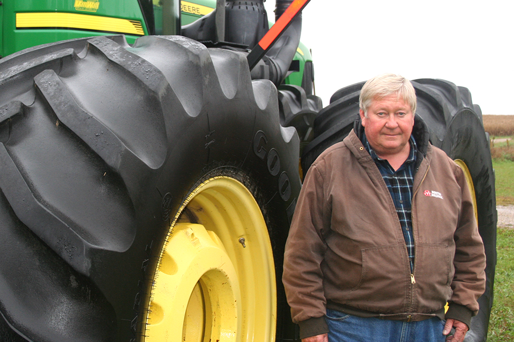 Iowa farmer Jerry Peckumn is conservation-minded in his practices and worries about climate change. Credit: Lacie Dotterweich/Center for Rural Affairs