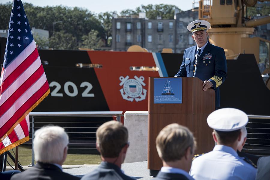 Adm. Karl Schultz became commandant of the U.S. Coast Guard in 2018. Credit: Petty Officer 3rd Class Ryan Dickinson/U.S. Coast Guard