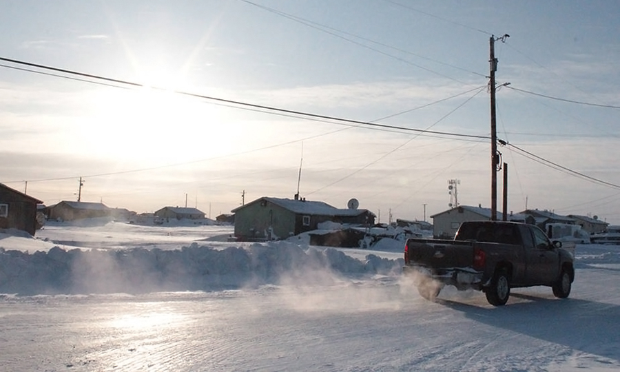 Nuiqsut, with about 400 residents, sits some 250 miles north of the Arctic Circle. Fossil fuel burning has already brought climate change to its doorstep.  Credit: Sabrina Shankman/InsideClimate News