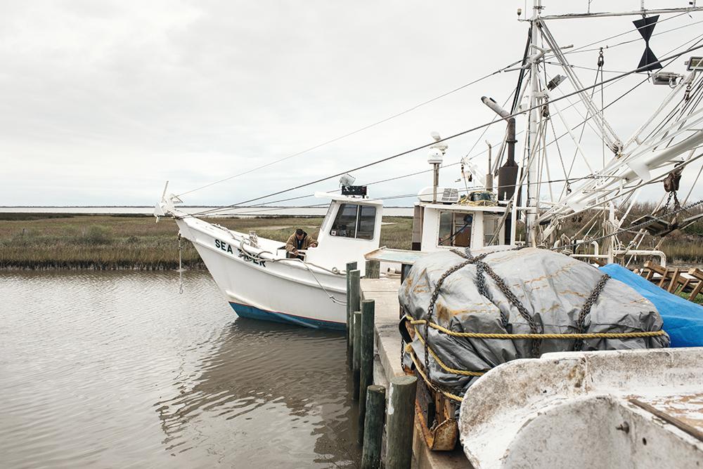 Steve Pirhoda on his boat. Credit: Spike Johnson