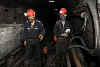 Coal miners in northern China. Credit: Str/AFP/Getty