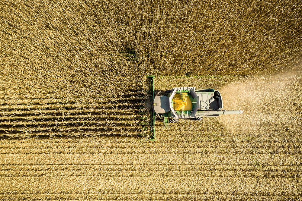 Combine harvesting corn. Credit: Edwin Remsburg/VW Pics via Getty Images