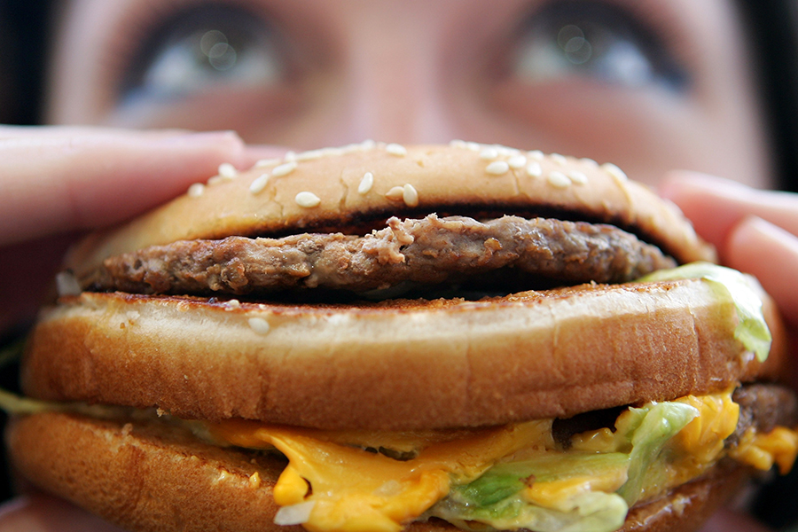 Fast food burger. Credit: Cate Gillon/Getty Images