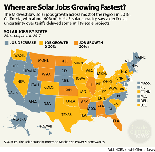 Map: Where Are Solar Jobs Growing Fastest?