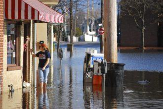 City Dock businesses face dozens of days of nuisance flooding every year. Credit: Matt Rath/Chesapeake Bay Program