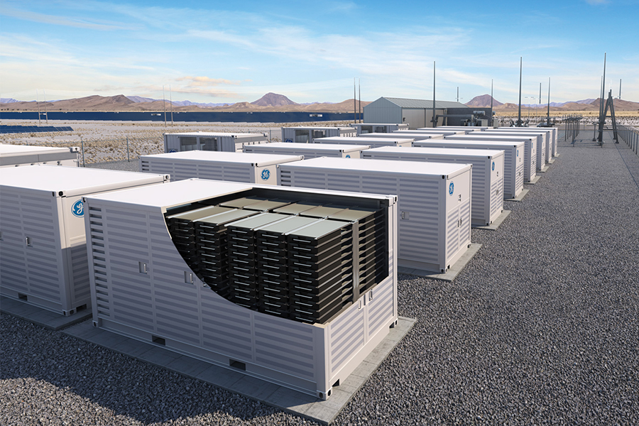 An illustration of a grid-scale energy storage system GE Power unveiled in 2018. Credit: GE Power