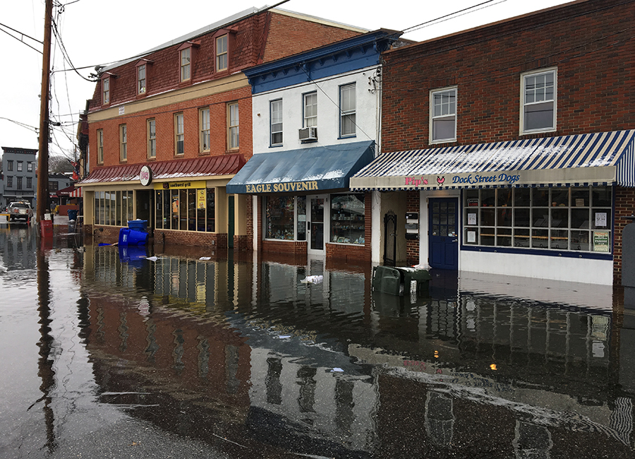 City Dock flooding. Credit: Alex Davies and Luis Rodriguez