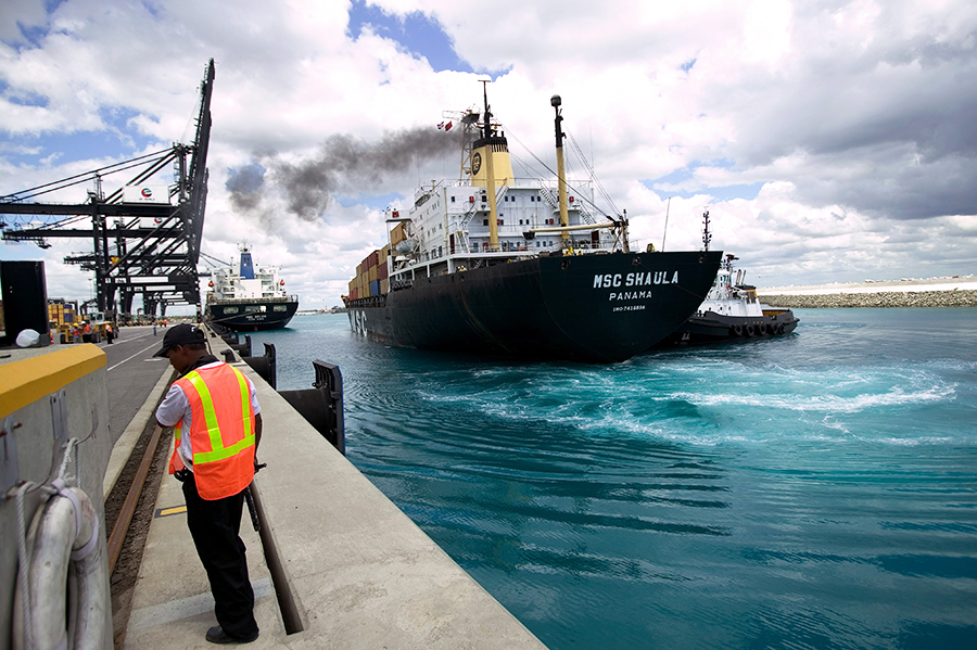 The UN's International Maritime Organization is responsible for measures to improve the safety and security of international shipping and to reduce pollution from ships. It has 174 member nations. Credit: Robert Nickelsberg/Getty ImagesThe UN's Internatio