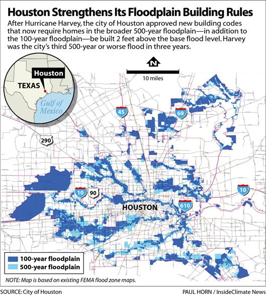 Map: Houston Strengthens Its Floodplain Building Rules